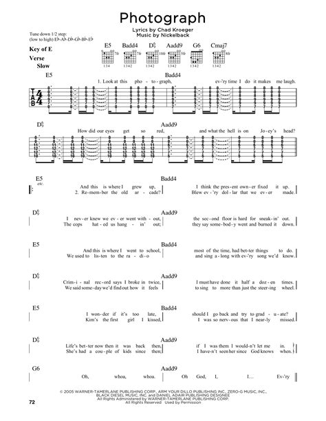 Nickelback Rockstar Guitar Chords