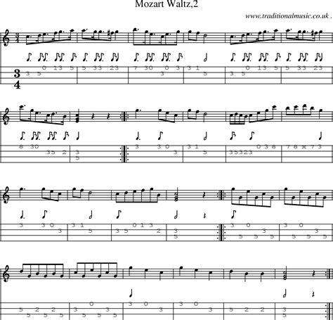 download mozart mp folk and traditional music sheet music mandolin tab
