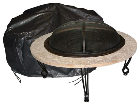 Outdoor Round Fire Pit Vinyl Cover Modern Fire Pit Firepit Accessories