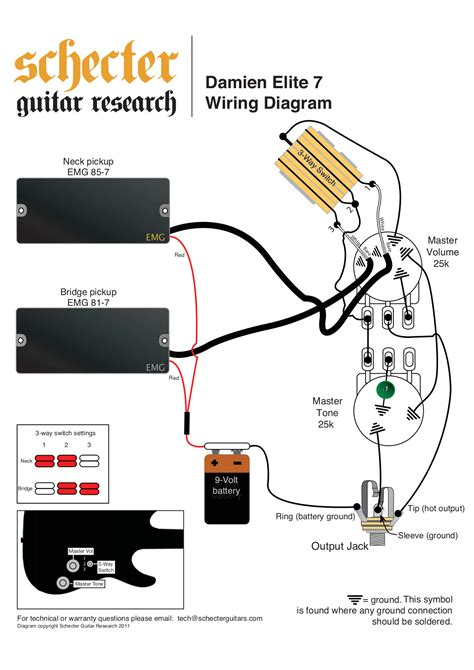 schecter vintage wiring diagrams schecter omen bass