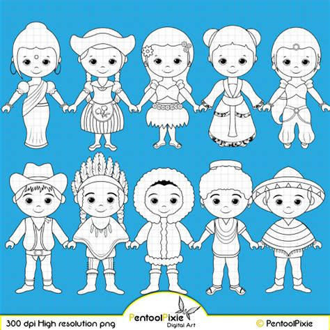 Chil Go Vanilla 1 Pags children around the world digital st clipart world