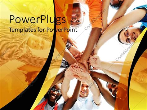 powerpoint themes culture powerpoint template kids putting their hands in together