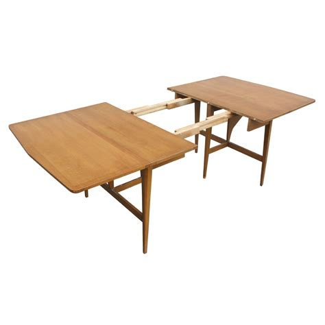 Images Dining Table 7ft Heywood Wakefield Drop Leaf Extension Dining Table