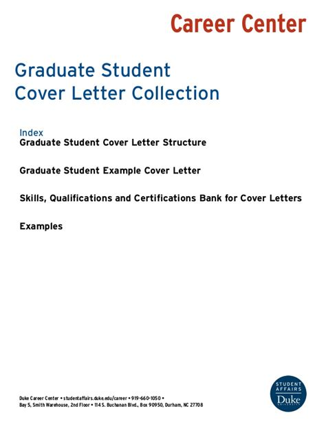 cover letter for upcoming college graduate graduate student cover letter collection
