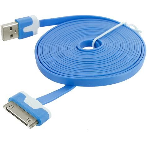 iphone f cable 10 ft noodle flat usb sync data cable cord 3m for iphone 4 4s 3gs ipod touch ebay