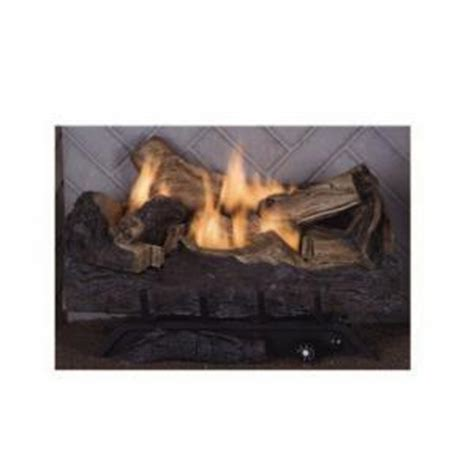 Gas Fireplace Logs Home Depot by Emberglow Melbourne Oak 24 In Vent Free Gas Fireplace