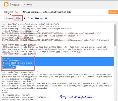 Membuat Spoiler Html | membuat spoiler pada postingan blog dengan efek slide
