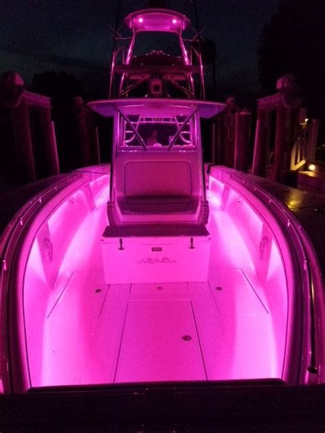pink led boat lights color changing led underwater lights sync with your boat