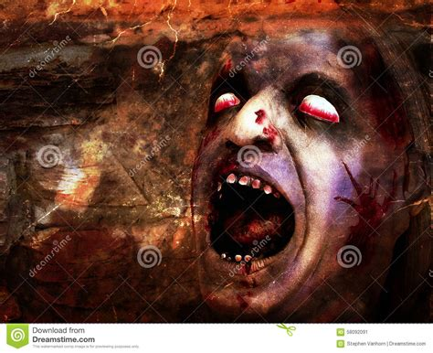 infect your home with flesh eating monster zombie gnomes zombie flesh wall stock photography cartoondealer com