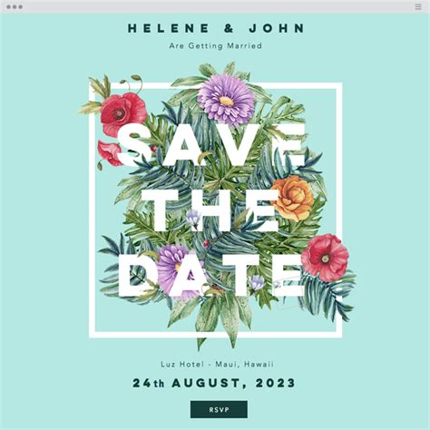 The Hottest Web Design Trends You Should Know In 2017 Save The Date Website Template