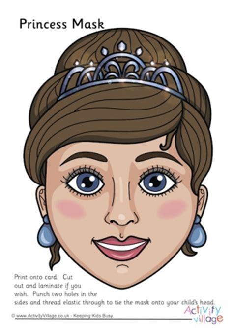 printable masks queen princess printables