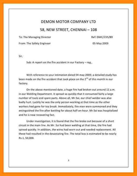 incident report letter template 3 how to write an incident report letter sle manager