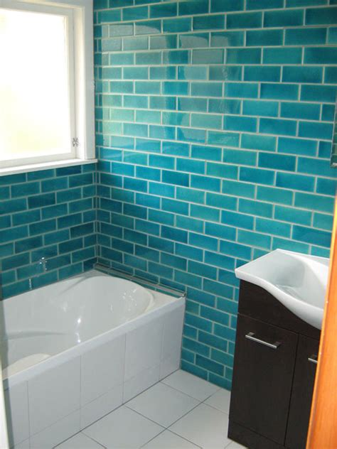 turquoise bathroom floor tiles crystal tile turquoise blue subway tiles