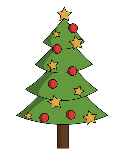 pics of x mas tree clipart best