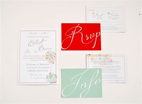 disney up wedding invitations at rivervale barn