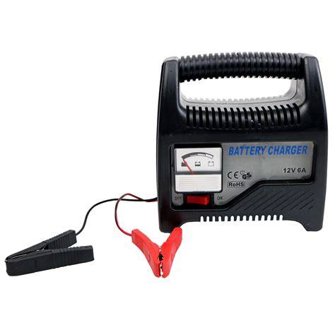 battery chargers new 6a 12v compact portable car vehicle battery