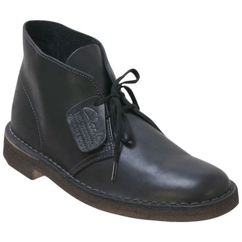 black s boots s clarks original desert boot black leather 260 77967