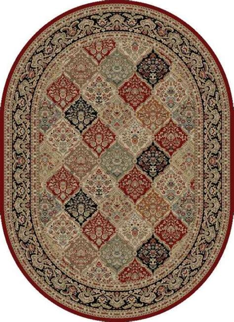 How Big Is A 5x8 Rug by Border Panel 5x8 Oval Area Rug Actual 5 3 Quot X 7 3 Quot