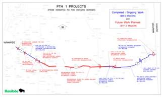 trans canada highway map province announces major trans canada highway upgrades
