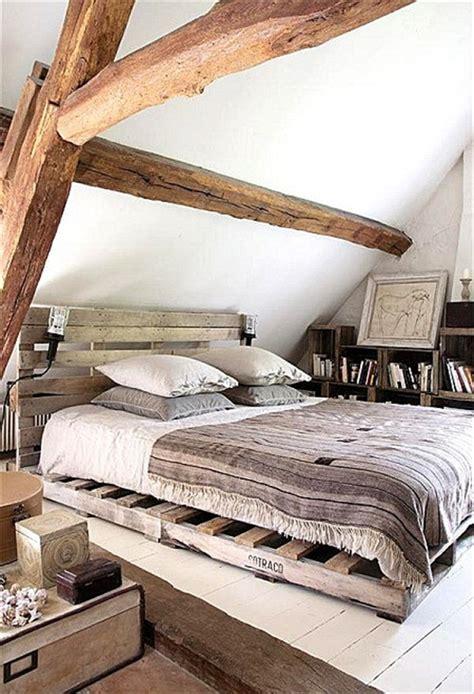 chambre palette bois lit en palette 50 id 233 es pour fabriquer un lit en palette