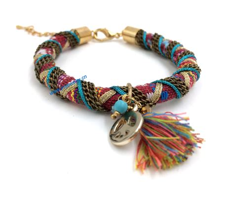 2015 new jewelry suppliers handmade woven tassel charm