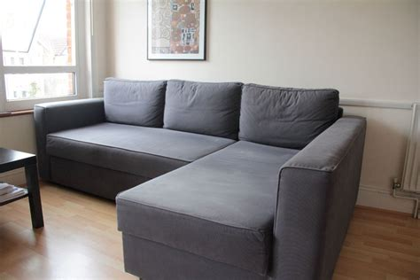 Black Couch Slipcovers Ikea Manstad Corner Sofa Bed With Chaise Longue And