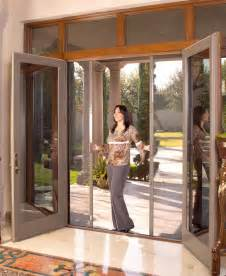 Sliding French Patio Doors With Screens by Retractable Screen Doors Security Screen Door Screenmobile
