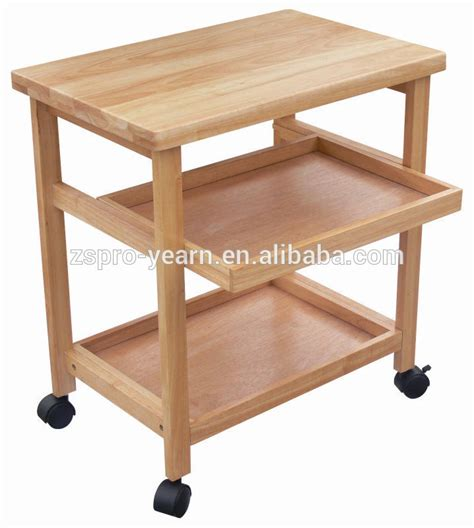 modern design wooden kitchen trolley with 3 tiers and