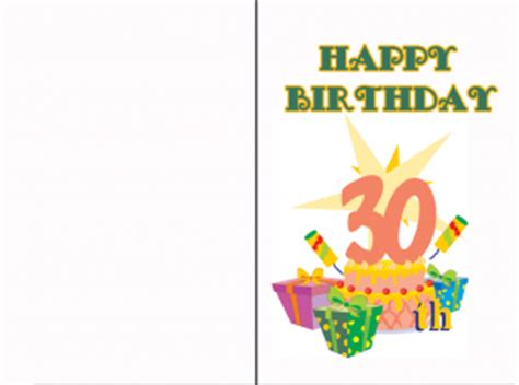 Free Printable Happy 30th Birthday Cards