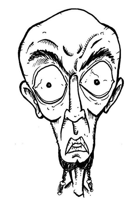 Cartoon Sketches Cartoon Face Sketches Free Premium Templates Caricature Templates Free
