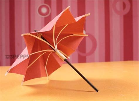 Make Paper At Home - crafts to make at home how to make umbrella step by