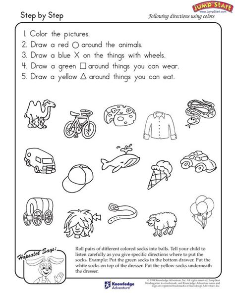 directions exercises printable step by step critical thinking and logical reasoning