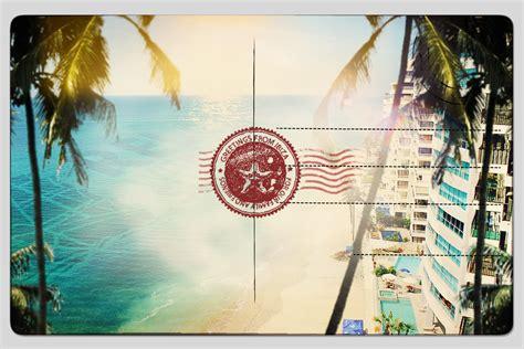 Postcard Background Photoshop