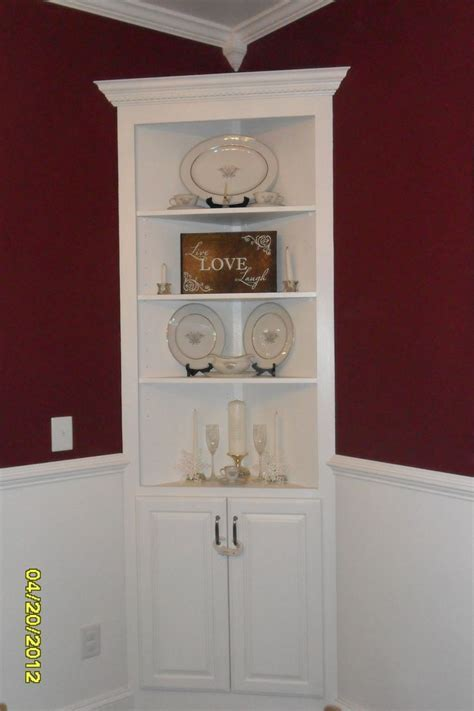 Unfinished Corner China Cabinet   Home Furniture Decoration