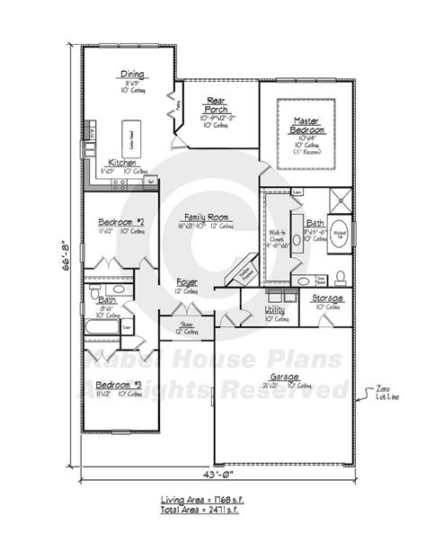 kayville country home plans zero lot house plans