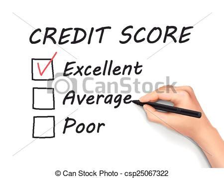 doodle free credit report vector illustration of credit score survey written by
