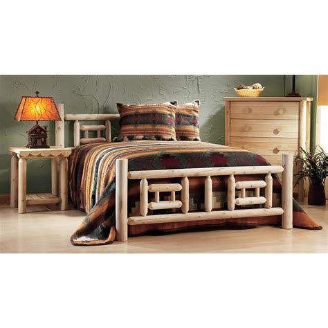rustic log bedroom sets rustic natural cedar furniture company 174 cedar log side