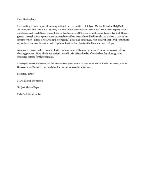 Resignation Letter Sle Angry standard letter of resignation template 28 images 9