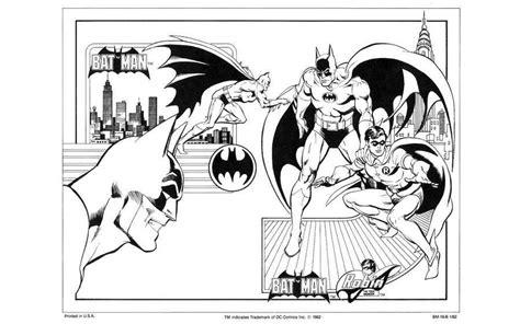 imagenes de batman a blanco y negro dibujos de dc comics para colorear en una gu 237 a de 1982
