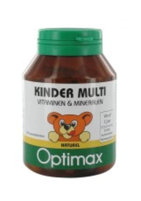Optimax Multivitamin Tablet drogisttop optimax kinder multivitamine naturel 100 tabletten drogist weerstand en