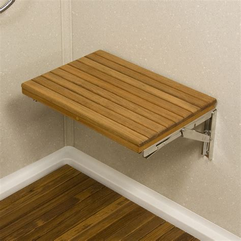 bath benches wall mount fold down teak shower bench teakworks4u