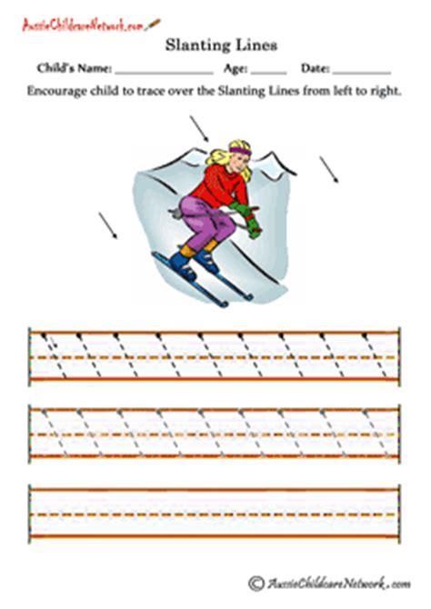 pattern writing slanting lines pre writing skills aussie childcare network