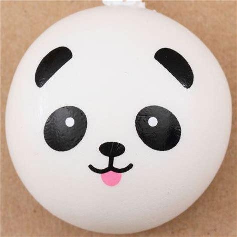 Panda Bun panda with tongue bun squishy cellphone charm kawaii animal squishies squishies shop modes4u