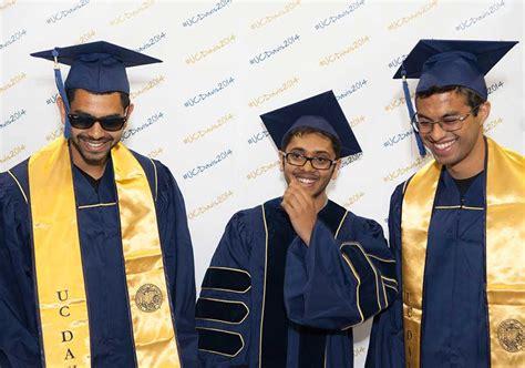 uc davis school colors graduation gowns go blue and green uc davis
