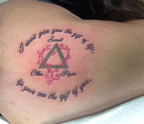 pink triangle tattoo this would be for and a boy to do the