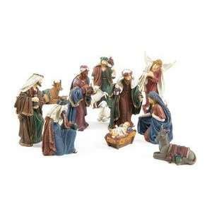 polystone nativity set neapolitan nativity set 6 pc holy family magi cow