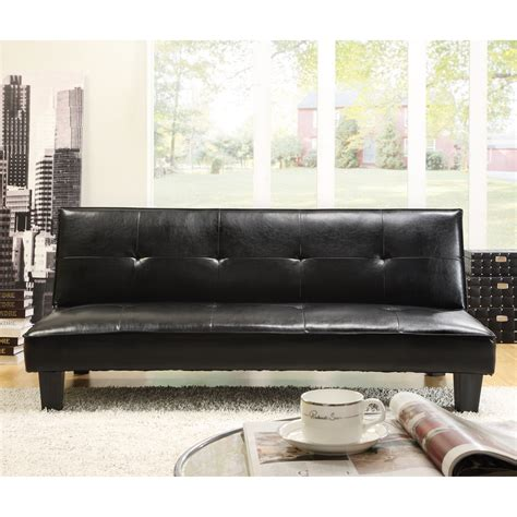 homelegance tufted mini sofa bed lounger dark brown