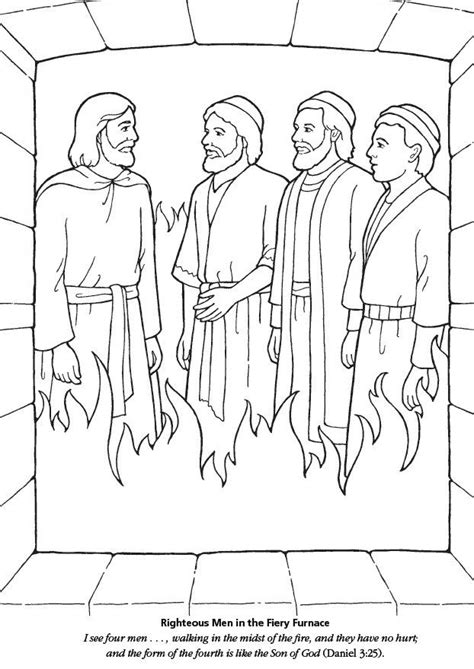 Daniel 3 Coloring Page by Shadrach Meshach And Abednego Coloring Pages Primary