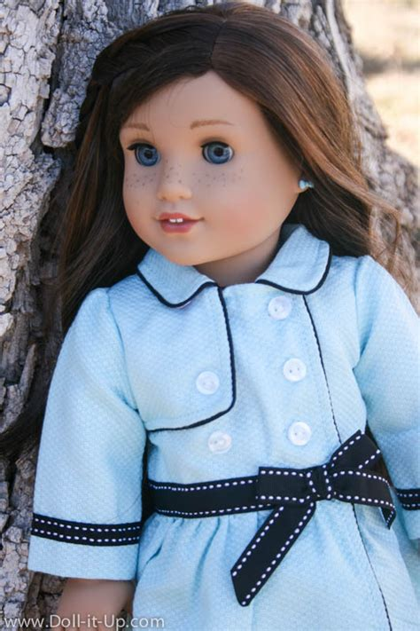 american girl hairstyles grace grace s travel coat doll it up