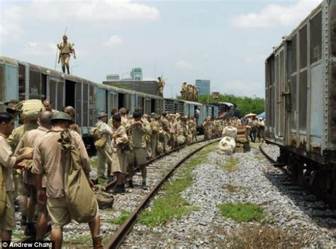 Colin Firth movie The Railway Man: Extras leave set after ... Colin Firth
